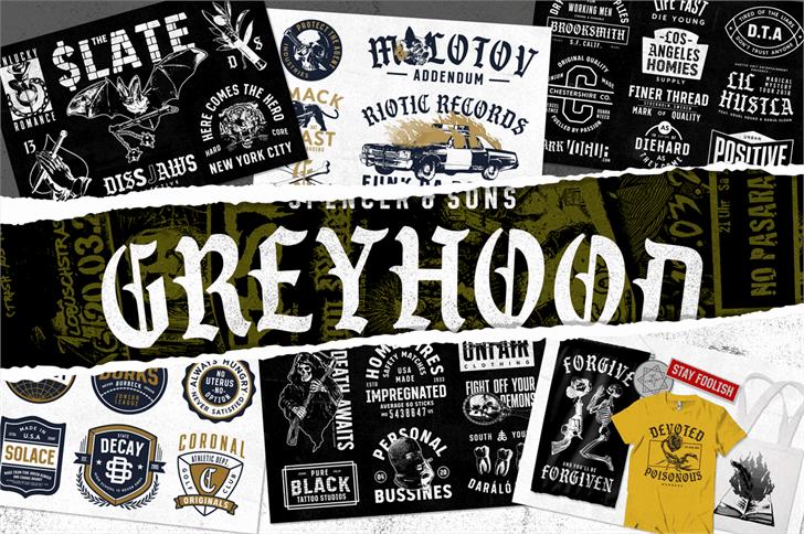 S&S GreyHood Seven шрифт скачать бесплатно