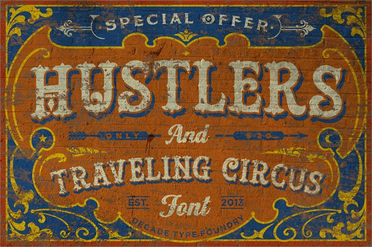 Hustlers Rough шрифт скачать бесплатно