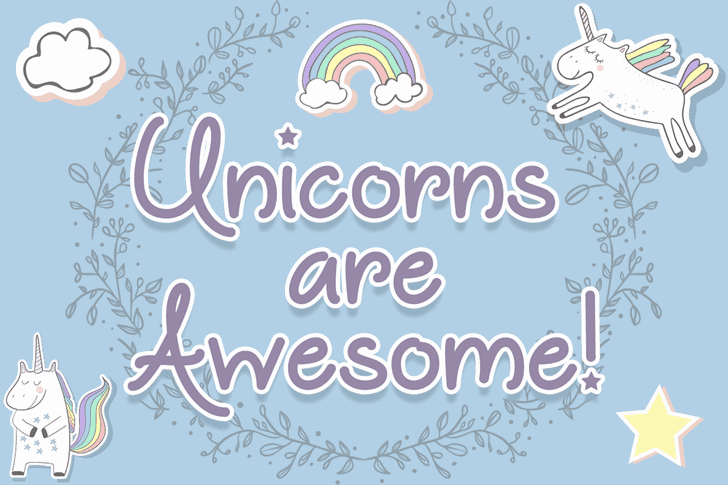 Unicorns are Awesome шрифт скачать бесплатно