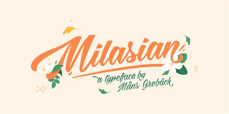 Milasian Thin шрифт скачать бесплатно
