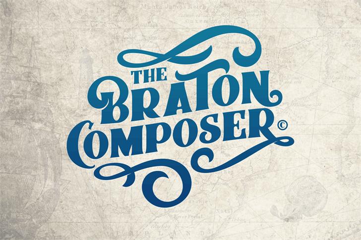 Braton Composer Stamp Rough шрифт скачать бесплатно