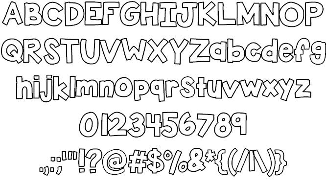 KBSticktoIt шрифт скачать бесплатно