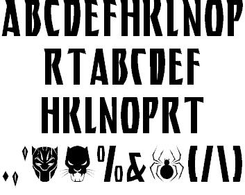 BLACK PANTHER шрифт скачать бесплатно