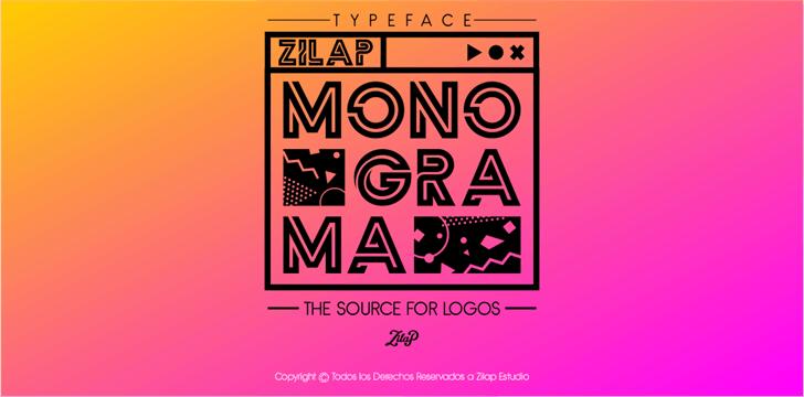Zilap Monograma шрифт скачать бесплатно