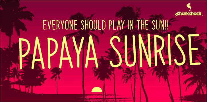 Papaya Sunrise шрифт скачать бесплатно