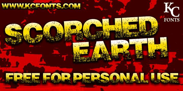 Scorched Earth шрифт скачать бесплатно