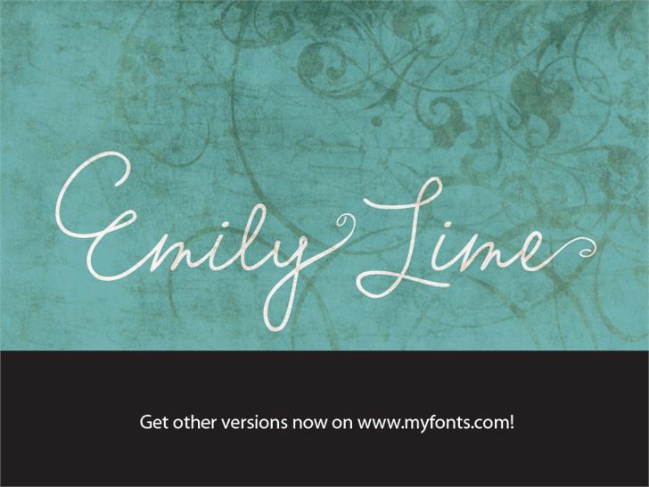 Emily Lime Words шрифт скачать бесплатно