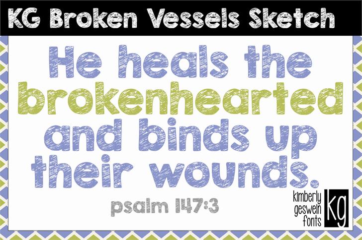 KG Broken Vessels Sketch шрифт скачать бесплатно