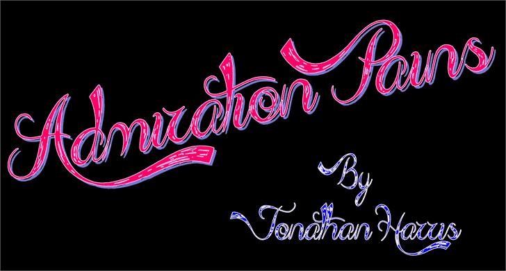 Admiration Pains шрифт скачать бесплатно