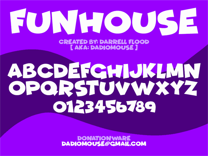 Funhouse шрифт скачать бесплатно