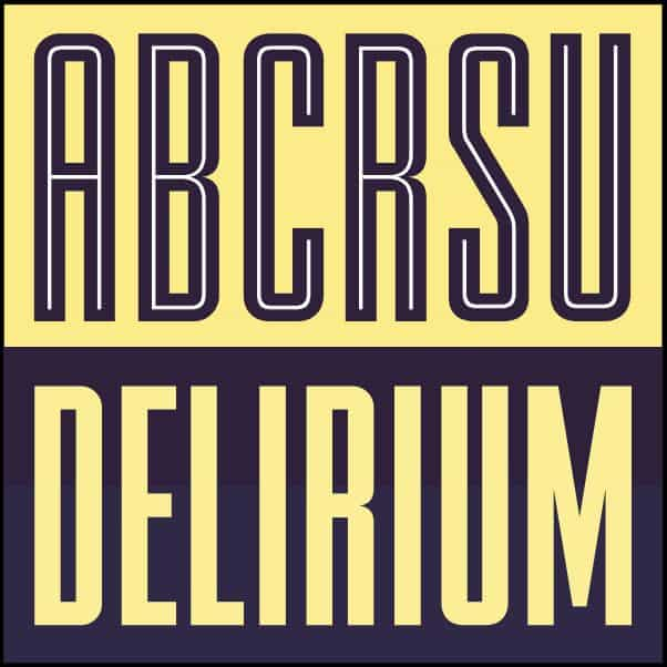 FTY DELIRIUM NCV шрифт скачать бесплатно