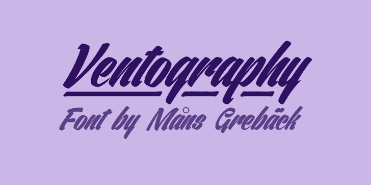Ventography шрифт скачать бесплатно
