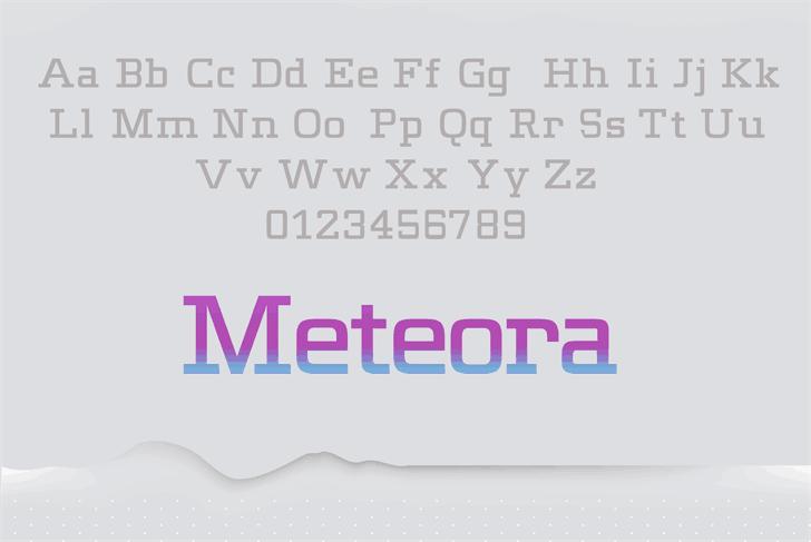 Meteora шрифт скачать бесплатно