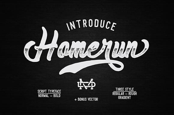 Homerun шрифт скачать бесплатно