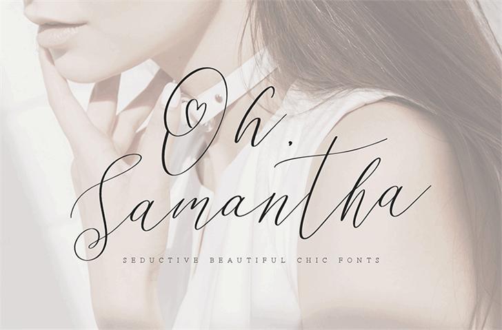 Oh Samantha шрифт скачать бесплатно