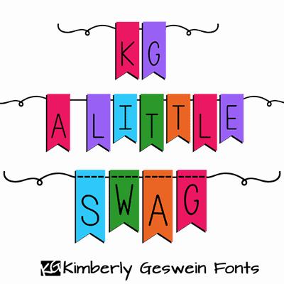 KG A Little Swag шрифт скачать бесплатно