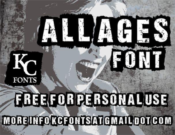 ALL AGES шрифт скачать бесплатно