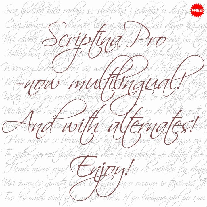 Scriptina Pro шрифт скачать бесплатно
