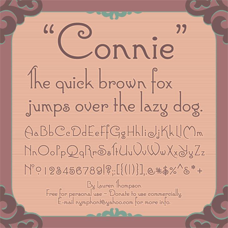 Connie шрифт скачать бесплатно