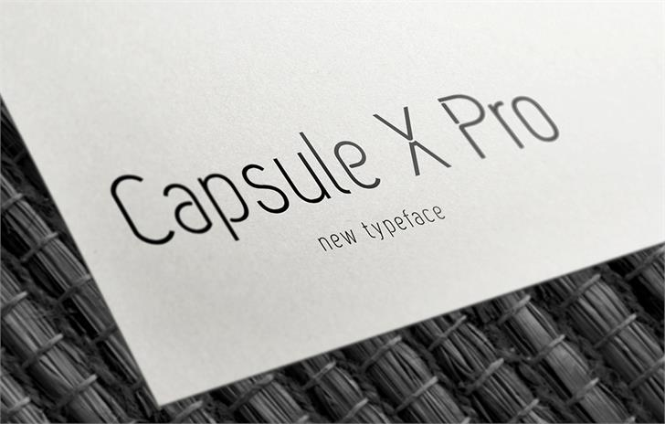 Capsule X Pro Medium шрифт скачать бесплатно