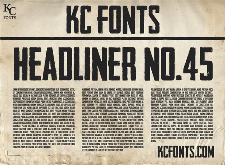 Headliner No. 45 шрифт скачать бесплатно
