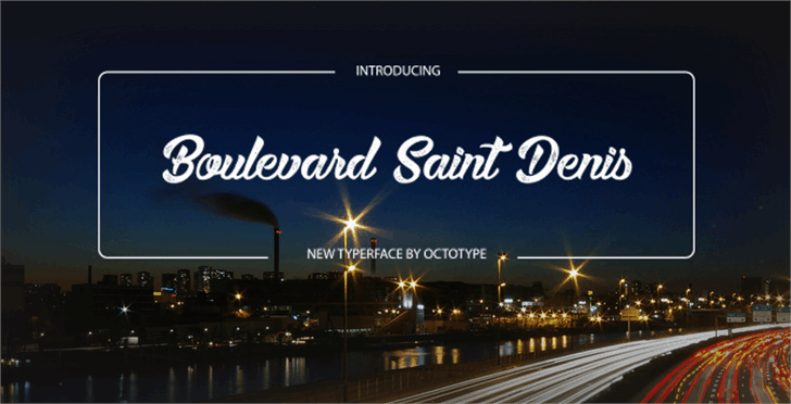 Boulevard Saint Denis шрифт скачать бесплатно