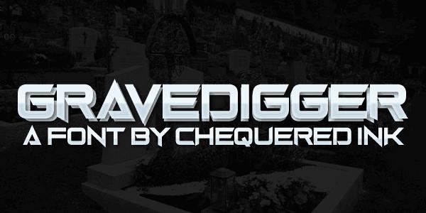 Gravedigger шрифт скачать бесплатно