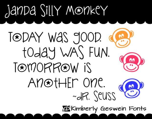 Janda Silly Monkey шрифт скачать бесплатно