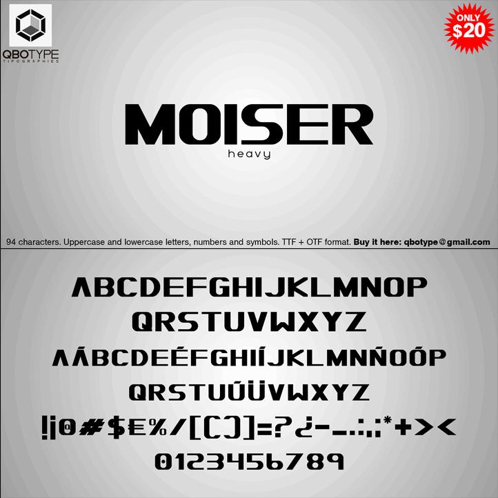Moiser шрифт скачать бесплатно