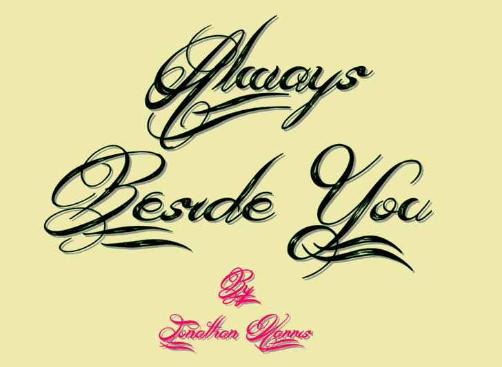 Always Beside You шрифт скачать бесплатно