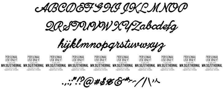 Ethernal Bold шрифт скачать бесплатно