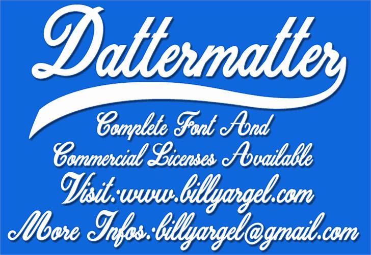 Dattermatter шрифт скачать бесплатно