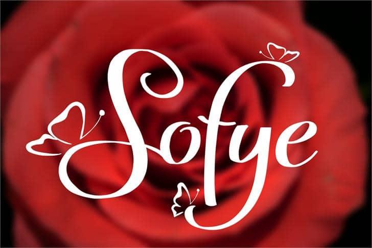 Sofye шрифт скачать бесплатно