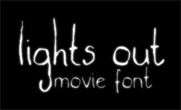 Lights out шрифт скачать бесплатно
