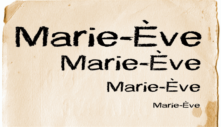 CF Marie Eve шрифт скачать бесплатно