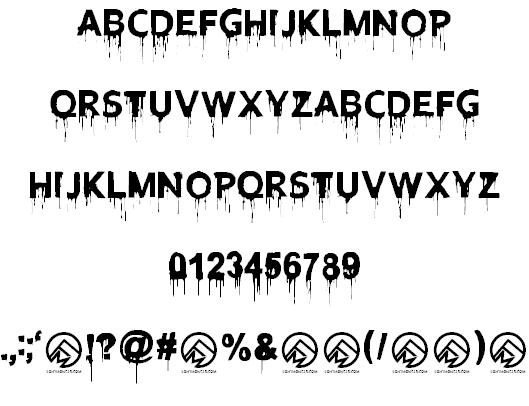 Blood Lust шрифт скачать бесплатно