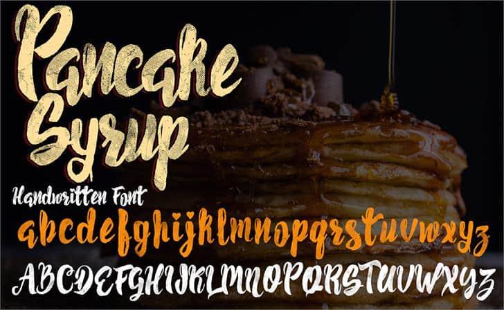 Pancake Syrup Textured шрифт скачать бесплатно