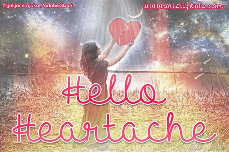 Hello Heartache шрифт скачать бесплатно