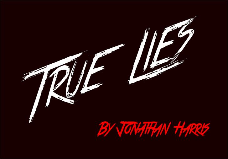 True Lies шрифт скачать бесплатно
