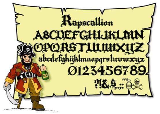 Rapscallion шрифт скачать бесплатно