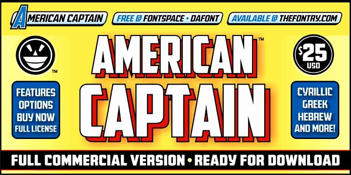 American Captain Patrius 02 шрифт скачать бесплатно