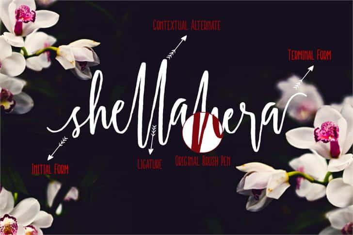Shellahera шрифт скачать бесплатно