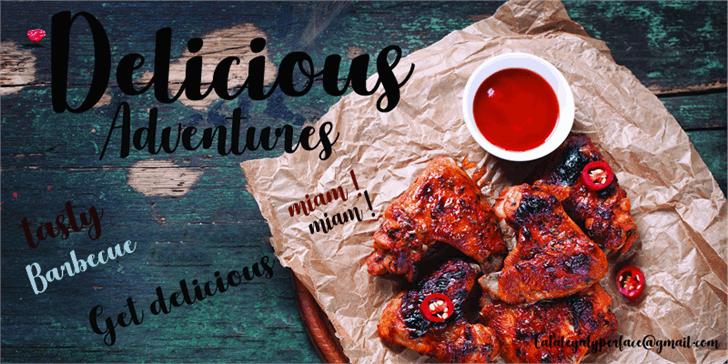 Delicious Adventures шрифт скачать бесплатно