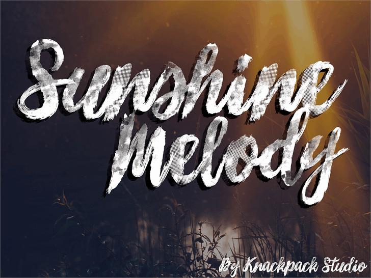 Sunshine_Melody шрифт скачать бесплатно