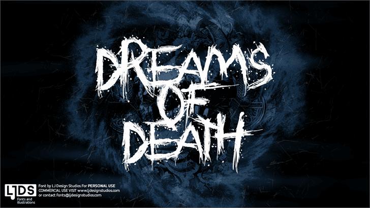 Dreams of Death шрифт скачать бесплатно