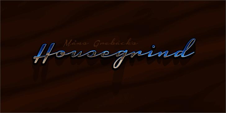 Housegrind шрифт скачать бесплатно