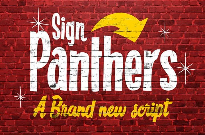 Sign Panthers Script шрифт скачать бесплатно