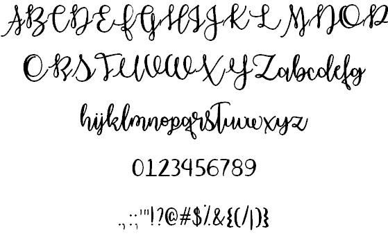 October Moon шрифт скачать бесплатно