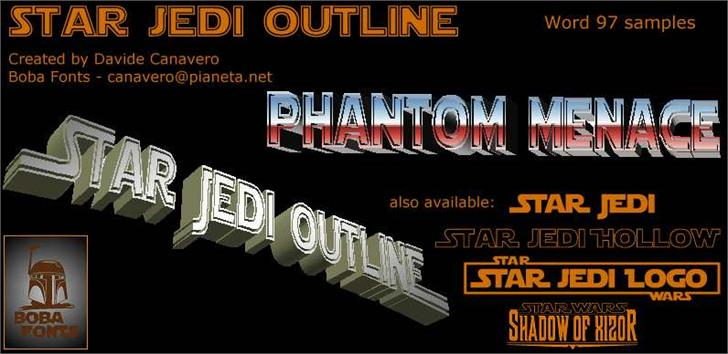 Star Jedi Outline шрифт скачать бесплатно