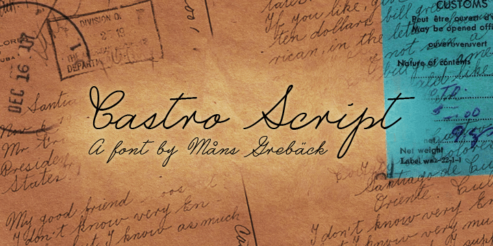 Castro Script шрифт скачать бесплатно